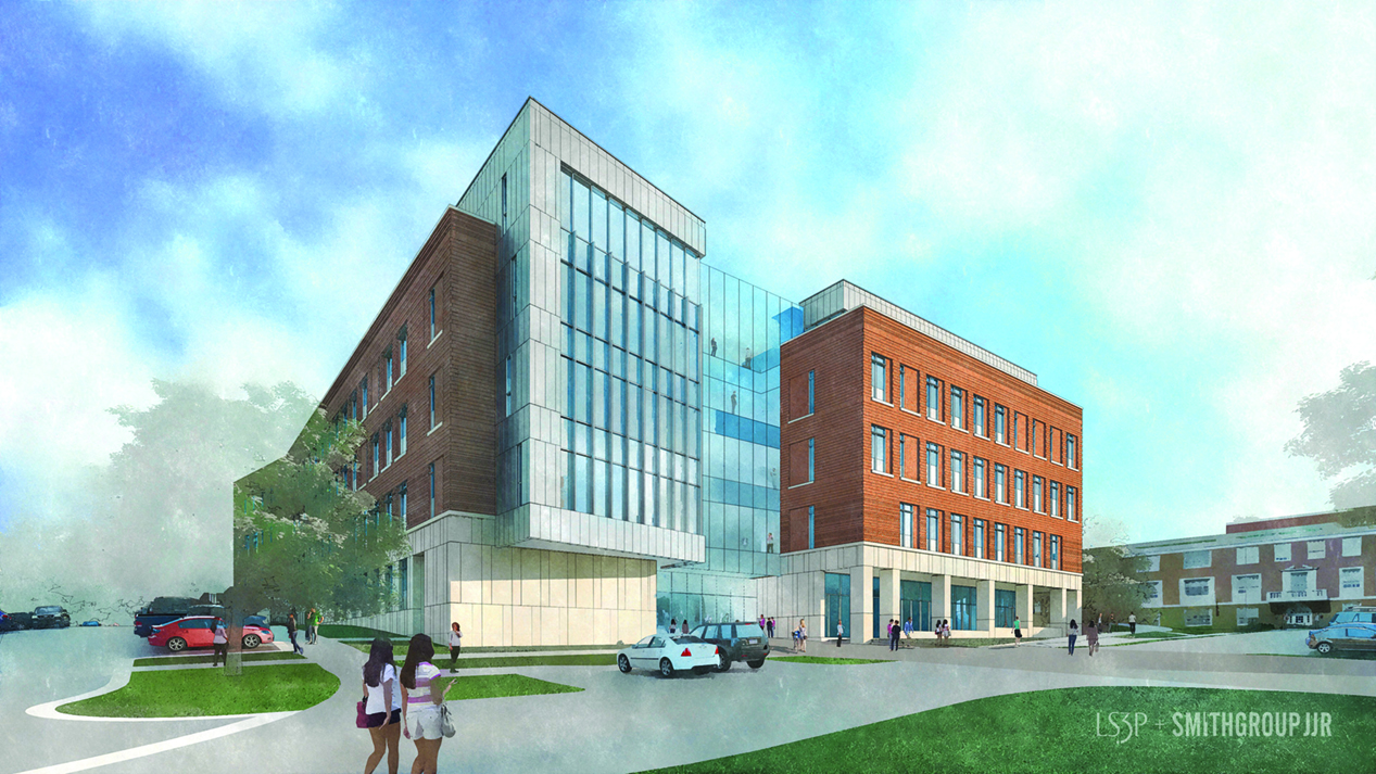 Nursing and Instructional Building rendering