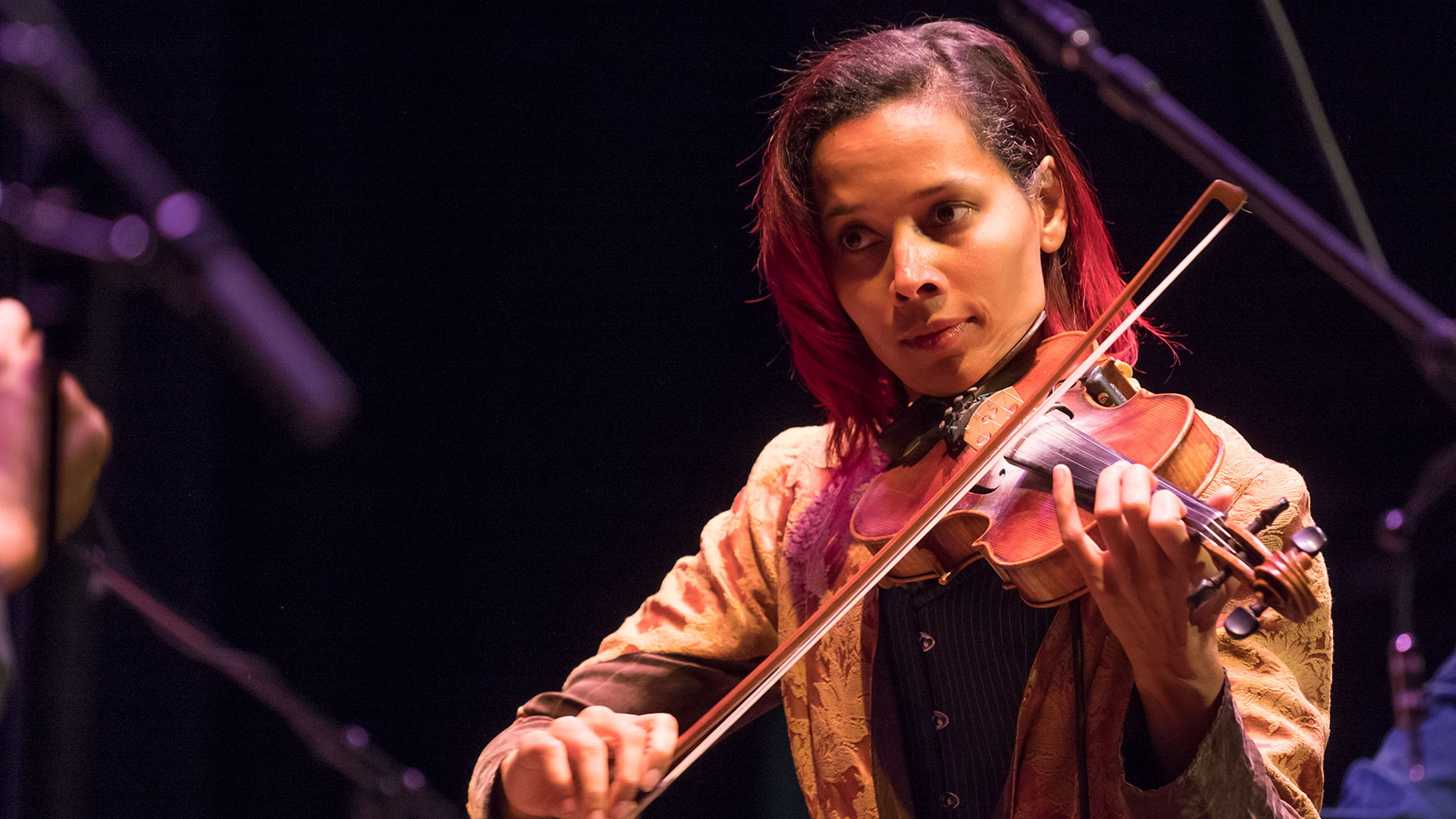 Rhiannon Giddens plays at UNCG Founder's Concert