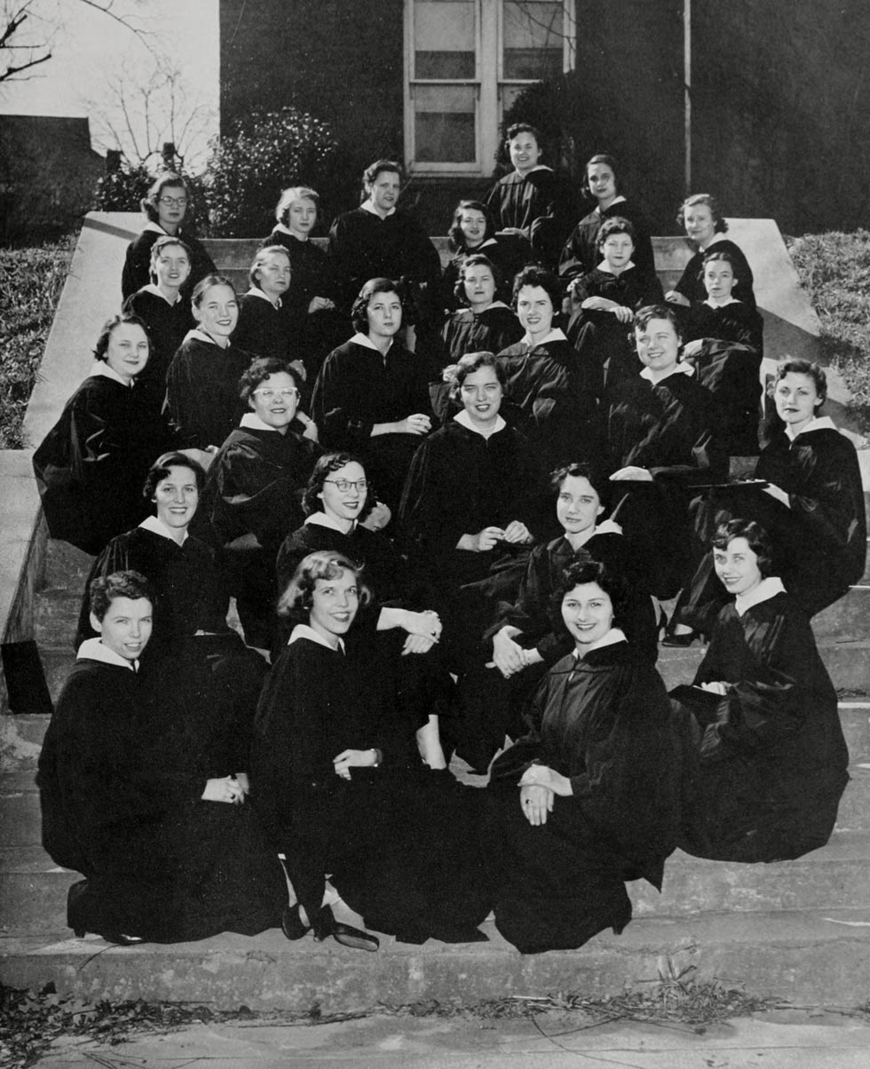 ALICE IRBY was a member of Woman's College Phi Beta Kappa chapter. She is shown in the photo below right (fourth row from the bottom, second from the right).