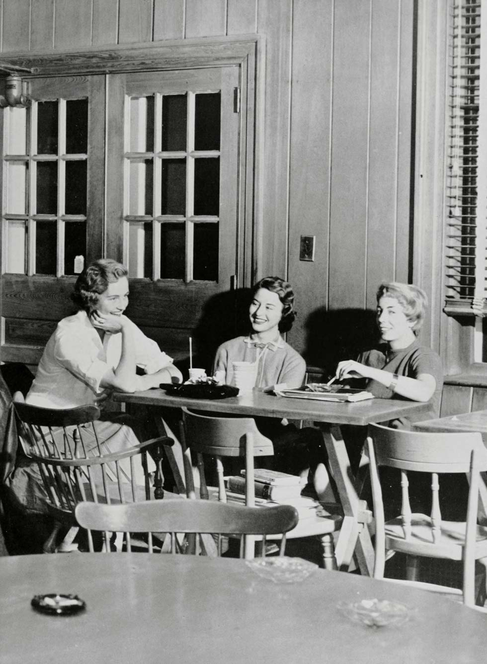 The Soda Shop, a regular gathering spot for students. The building is now the Faculty Center.