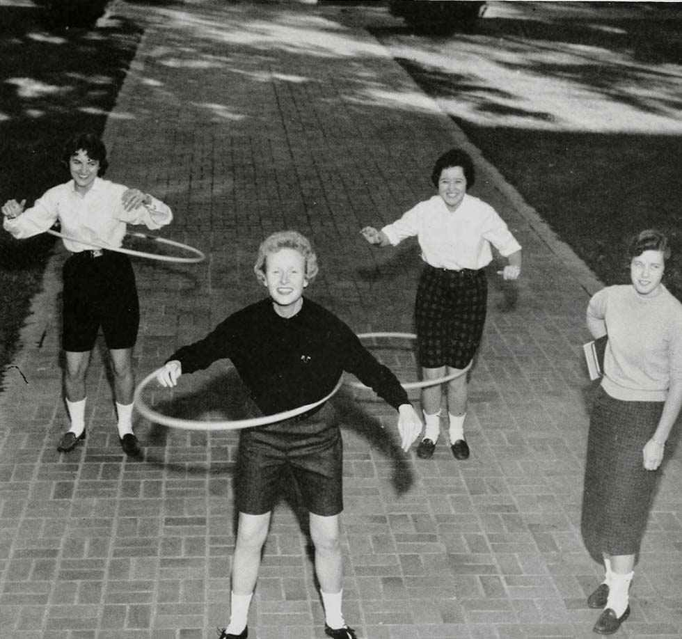 Hula hoops – the new fad, 1959.