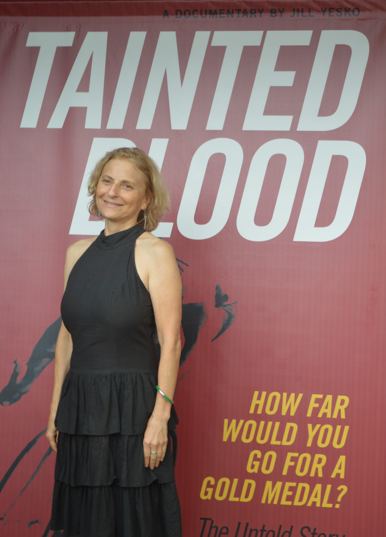 """Jill Yesko '09 at the premiere for """"Tainted Blood'"""