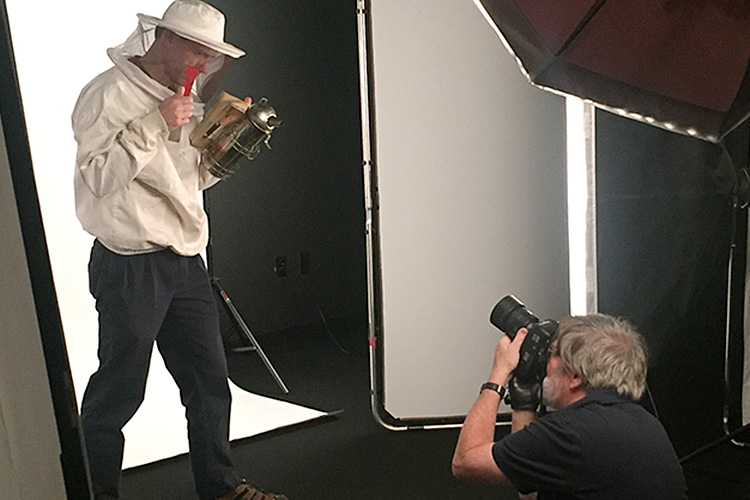 photo of Martin Kane, photographer working at a photo shoot