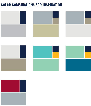 UNCG suggested color combinations