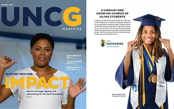 Spring 2019 UNCG Magazine full cover