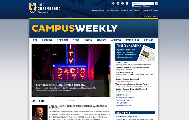 Campus Weekly Homepage