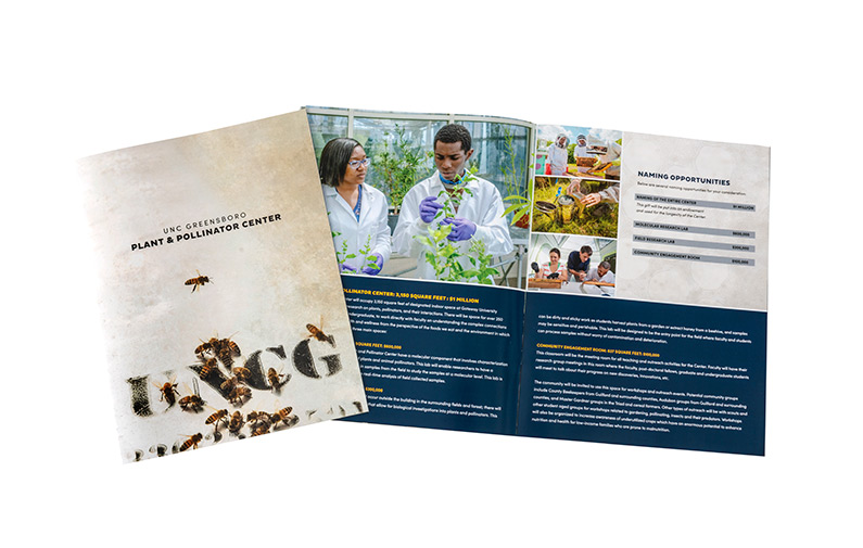 photo of brochure for the Plant and Pollinator Center