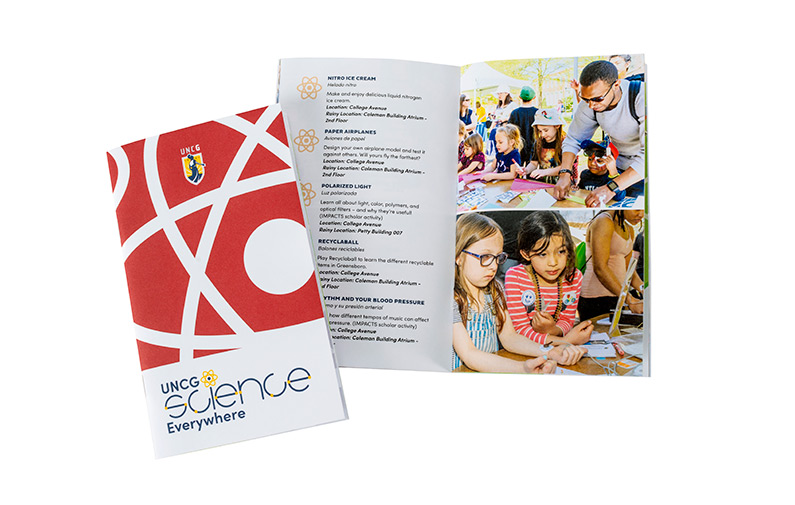 photo of brochure designed by University Communications for Science Everywhere 2019