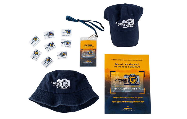 Photo of promotional items from Week At The G event