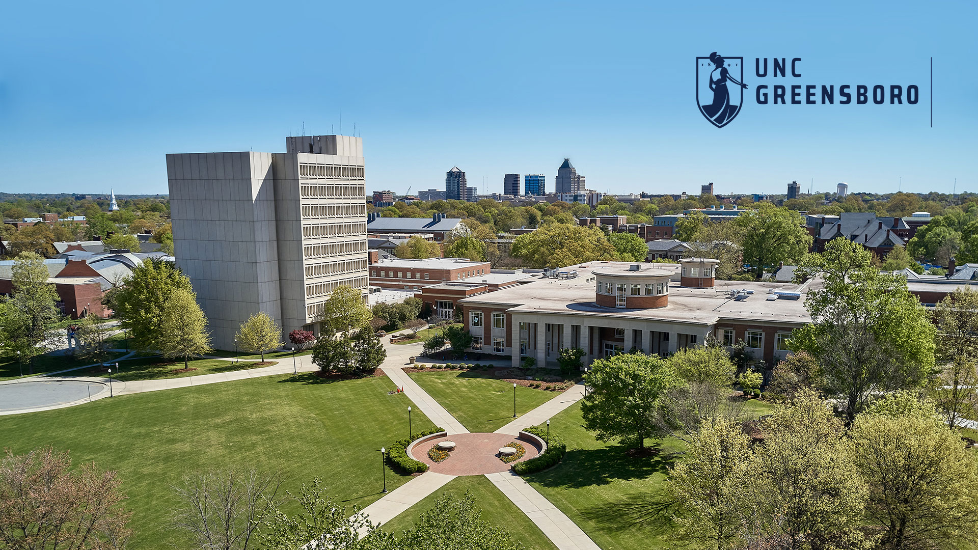 Wallpaper Image - Aerial view of EUC and Library Tower (1920 x 1080 pixels)