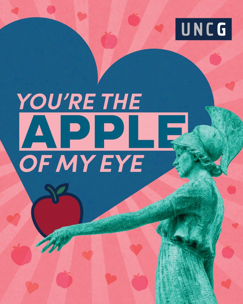 Valentine's E-Greeting image - UNCG You're the Apple of My Eye